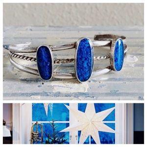 Vintage Jewelry - Vintage Bracelet Silver & Blue